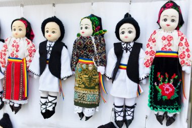 Small traditional puppets