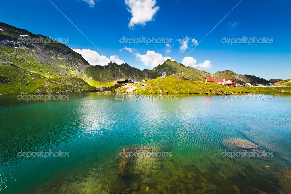 Lake and mountain (Balea Lake in Romania)