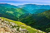 Landscape with Parang mountains in Romania