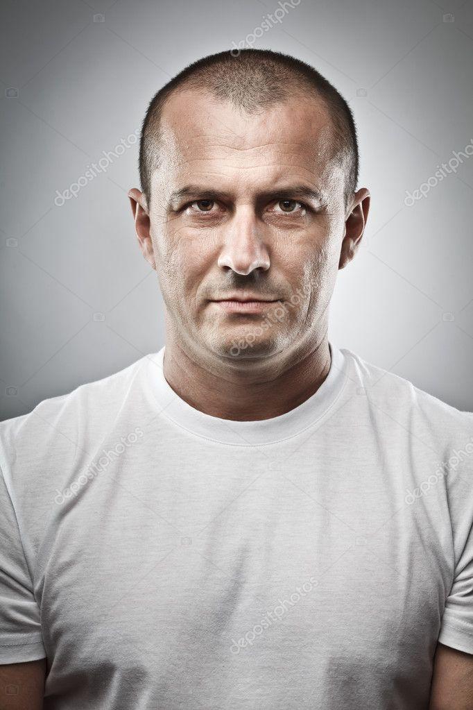 Menacing man portrait