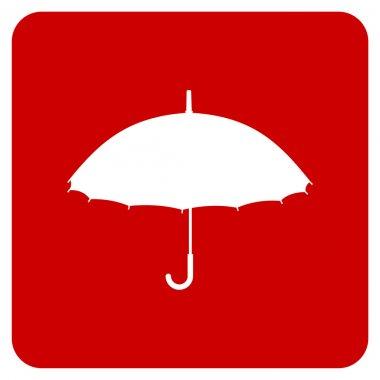 Silhouette of an umbrella