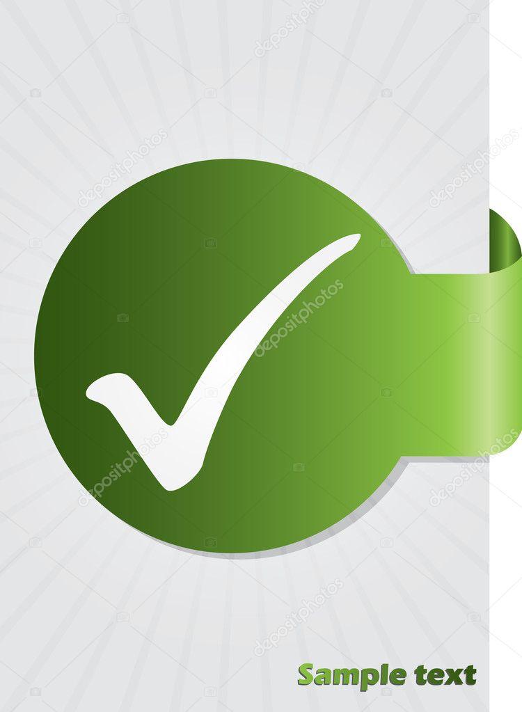 Tick Symbol On Brochure Stock Vector Vipervxw 6652816