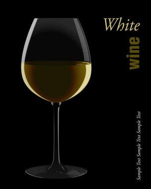 Glass of white wine.