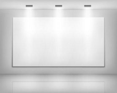 White frame in art gallery