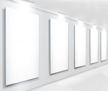 Displays in gallery. Vector illustraction. clip art vector