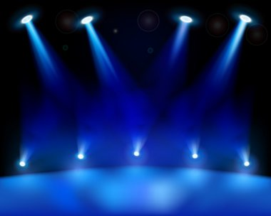Stage lights. Vector illustration.