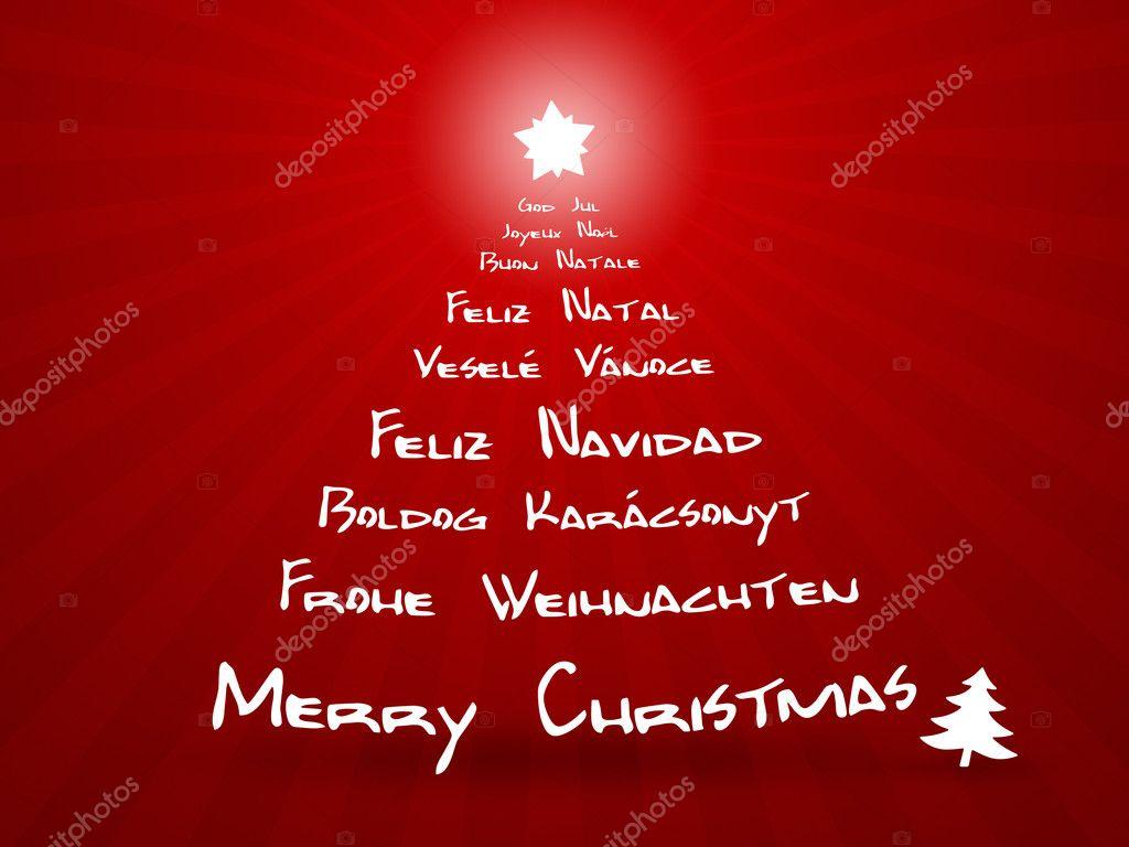 Frohe Weihnachten Auf Allen Sprachen.Frohe Weihnachten In Verschiedenen Sprachen Stockfoto Magann