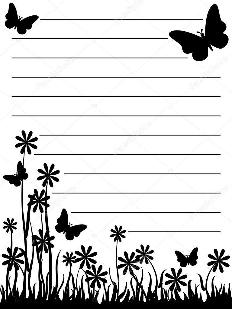Butterfly And Flower Notepad Vector Image By Mirage3 Vector Stock 6334451
