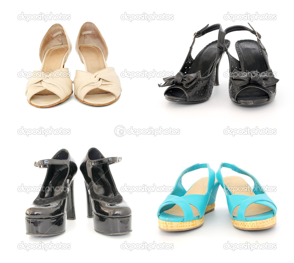 cf4e288c64 Four pairs of lady shoes — Stock Photo © elly l  6066367
