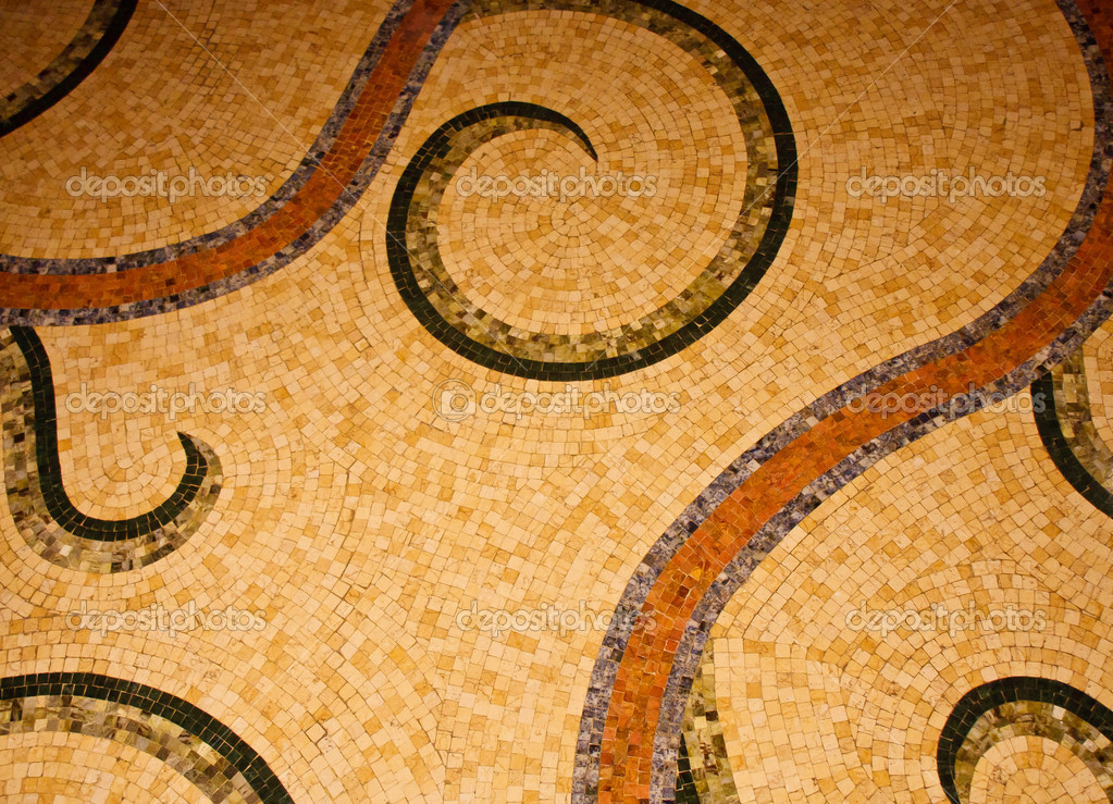 Old Mosaic Tile Floor Pattern — Stock Photo © dbvirago #5779494