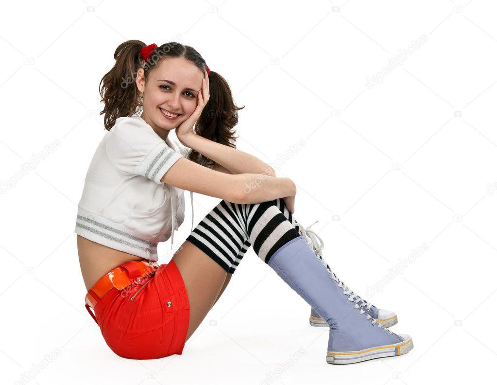 Фотографии девушек в юбках и носках — pic 2