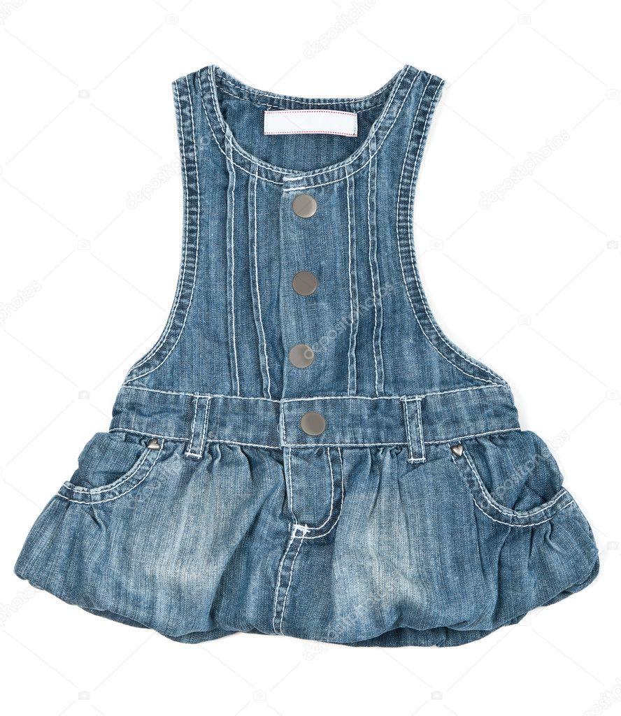 cc2d8e4f1abf vestido jeans azul bebé — Stock Photo © Ruslan #5764049
