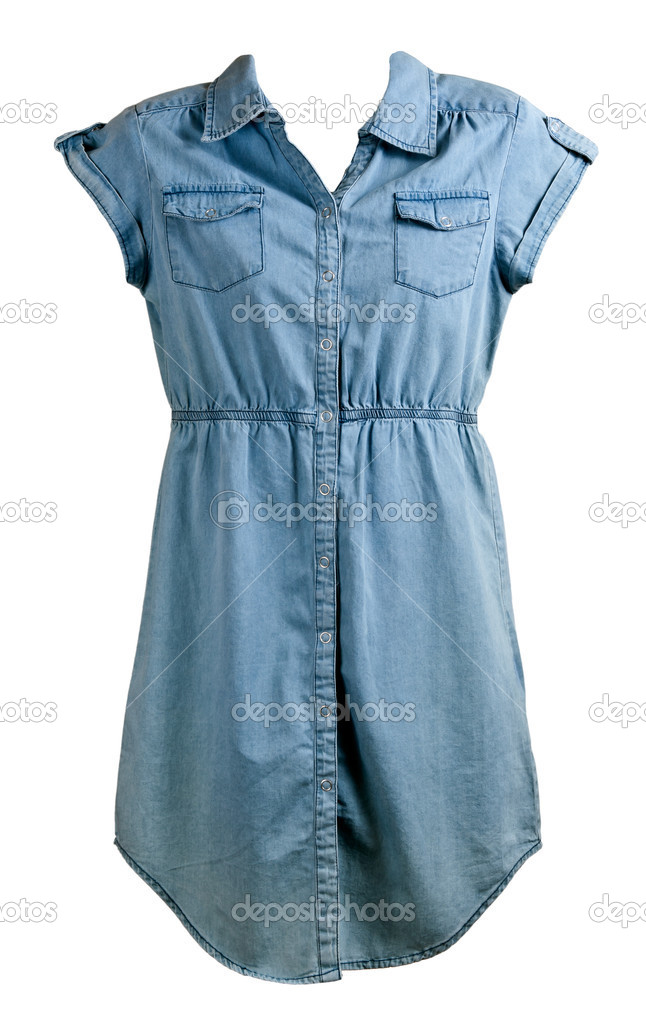 28aed8aebf9e vestido de brim azul — Stock Photo © Ruslan #6223669