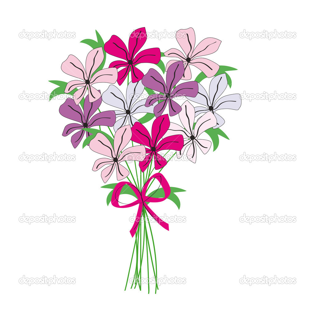 Bouquet stock vector justaa 6587817 for Bouquet de fleurs 974