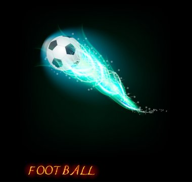 Football ball on dark background