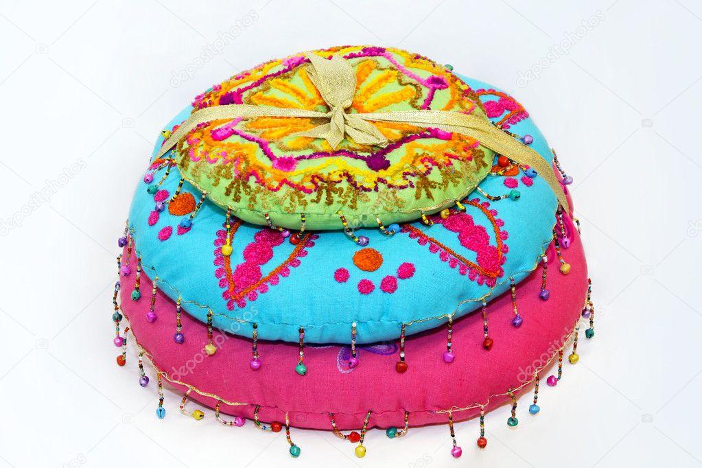 Indyjskie Poduszki Zdjęcie Stockowe Baloncici 6375456