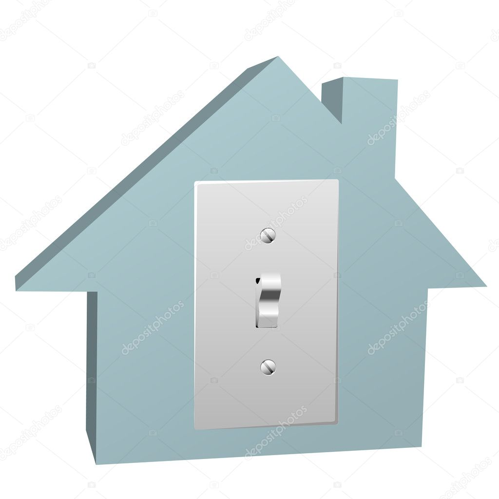Electricity house switch on electric light at home — Stock Vector ...