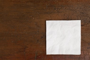 White napkin and old table
