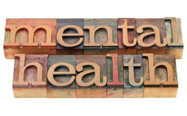 Mental health in letterpress type