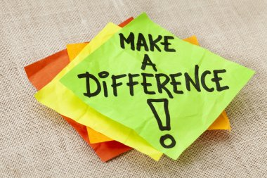 Make a difference reminder