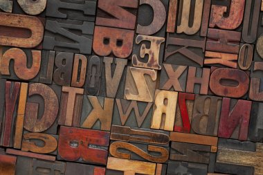 Vintage wood letterpress type