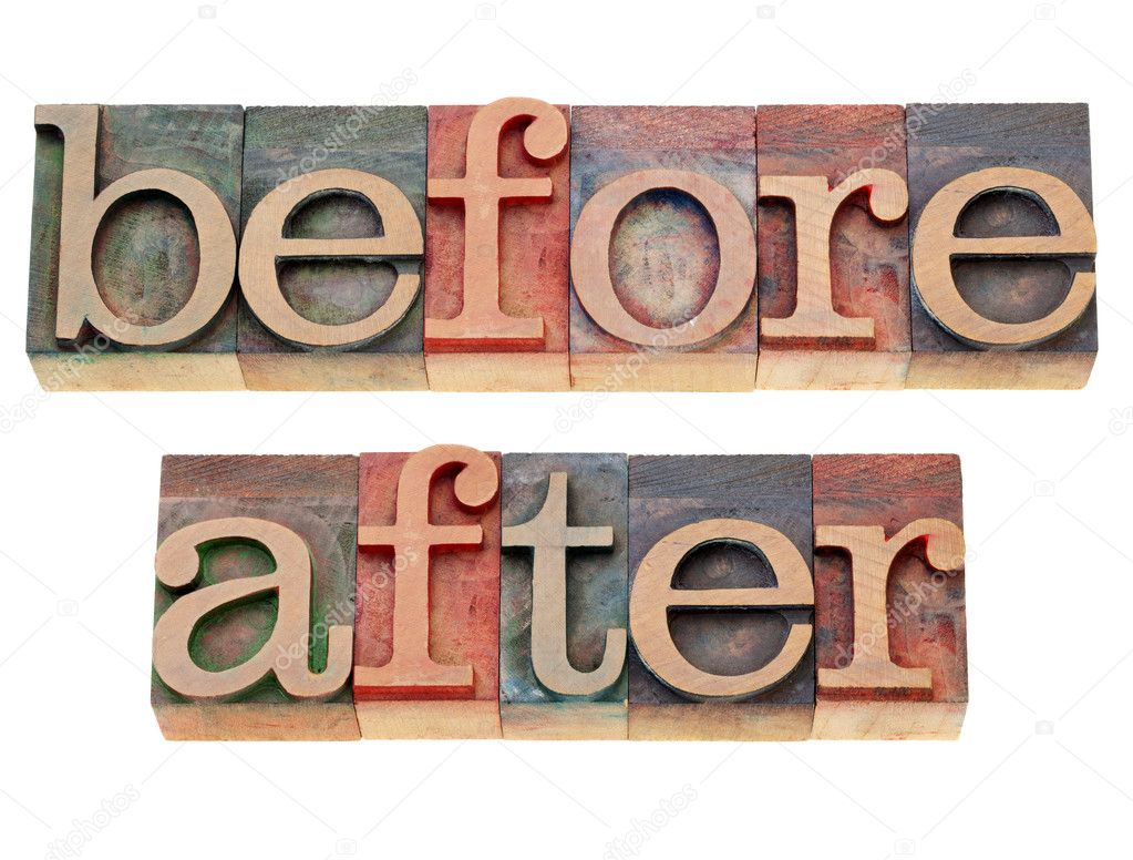 before and after words stock photo pixelsaway 6738655