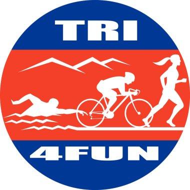 Triathlon marathon run swim bike