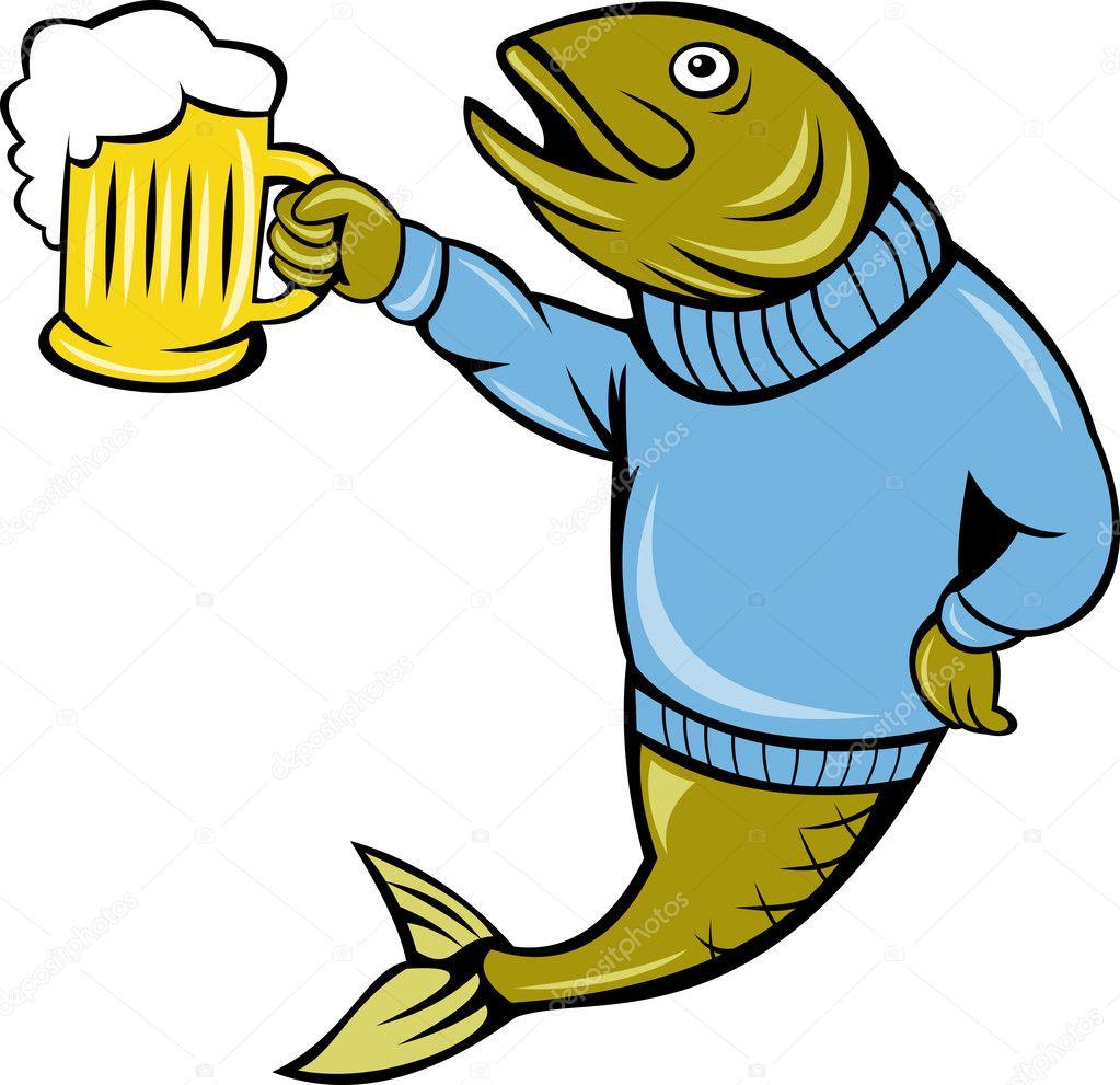 Прикольные картинки рыбка с пивом