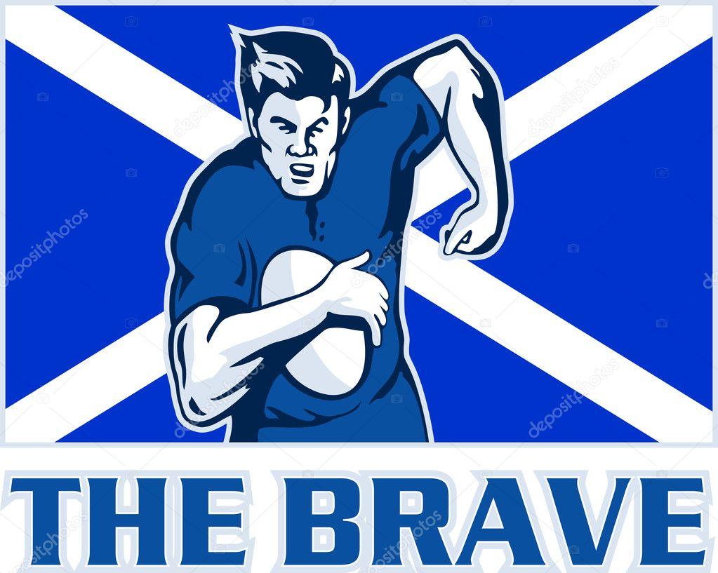 rugby player scotland flag the brave u2014 stock photo patrimonio