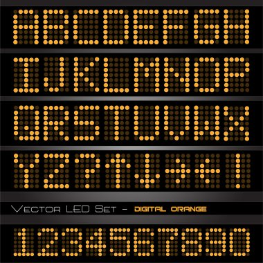 Orange LED numbers and letters