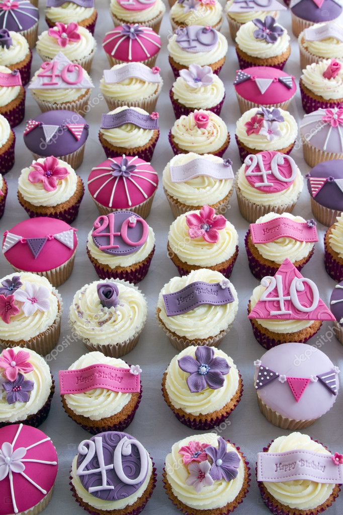 Outstanding Images Cupcakes For 40Th Birthday 40Th Birthday Cupcakes Funny Birthday Cards Online Eattedamsfinfo