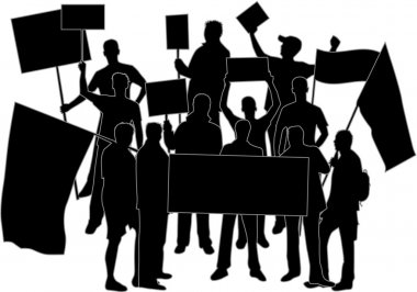 Manifestation - a group of protesting