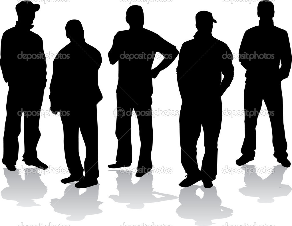 Group of men — Stock Vector © pablonis #6602644
