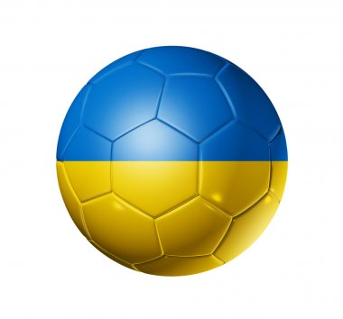 Soccer football ball with Ukraine flag