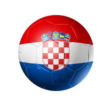 Soccer football ball with Croatia flag