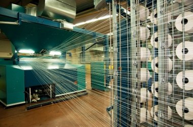 Textile industry (denim) - Weaving and warping