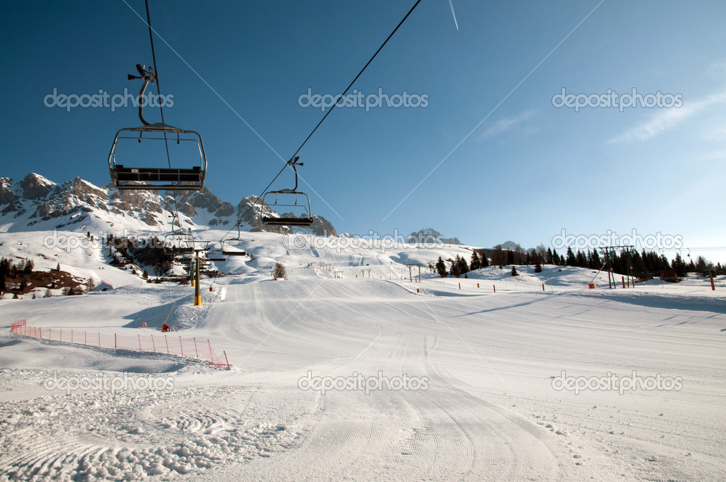 Snow mountain landscape - Dolomites