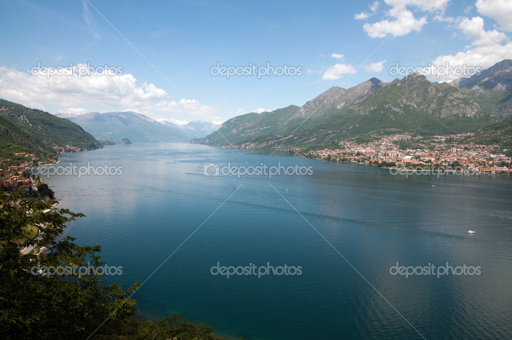 Top view of Lake Como (Italy)
