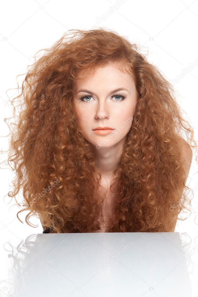 ᐈ Curly Red Hair Stock Photos Royalty Free Curly Red Head Images Download On Depositphotos