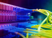 Photo Shot of network cables and servers in a technology data center