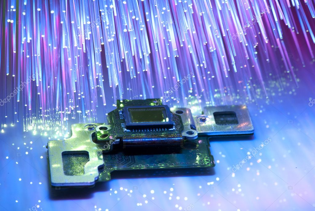 Ccd Sensor On A Card Of Digital Camera With Fiber Optical