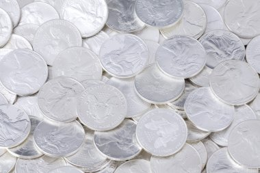 Shiny coins background