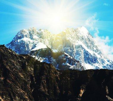 Mountains peak stock vector
