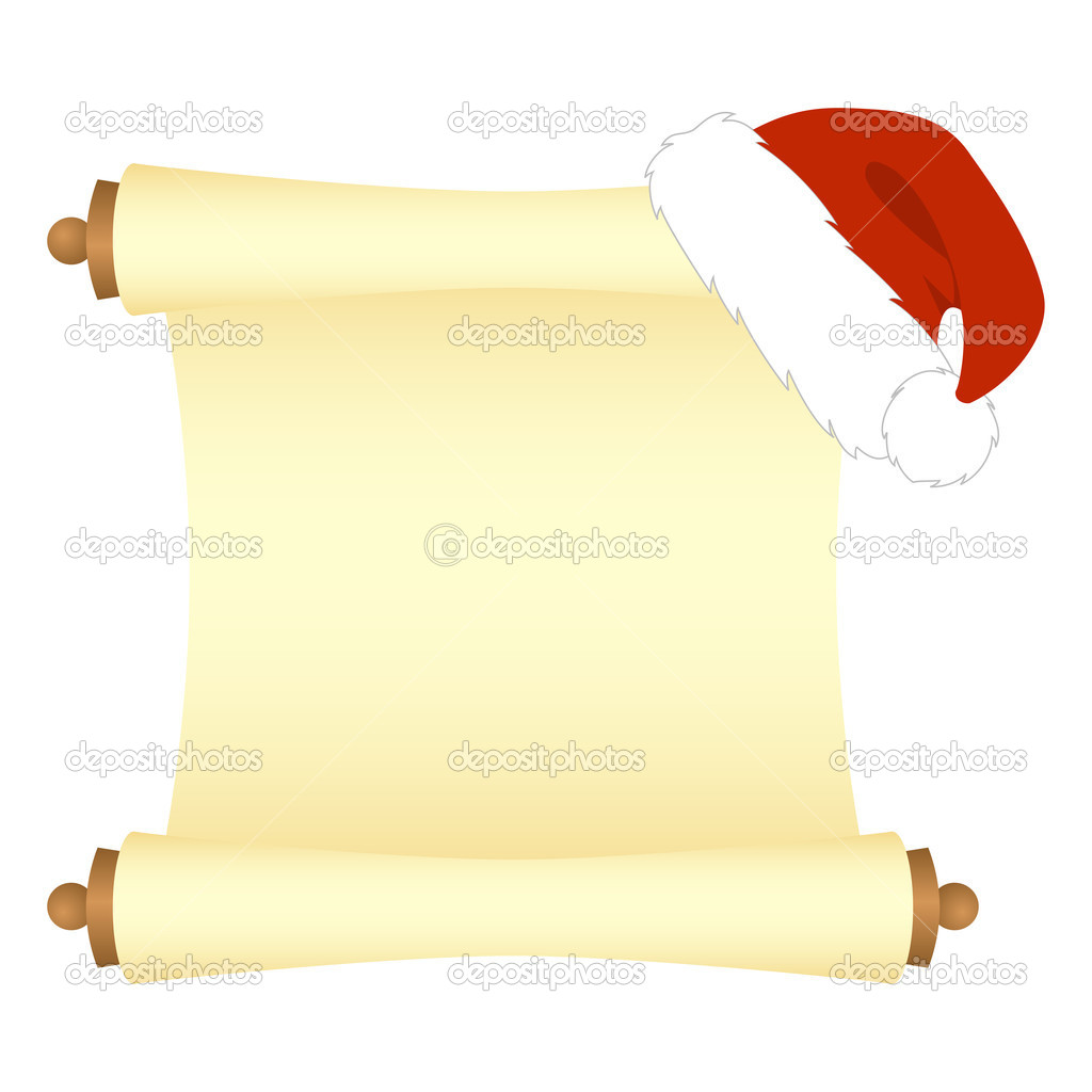 Christmas scroll stock vector c nataly nete 6425040 for Scroll letter from santa
