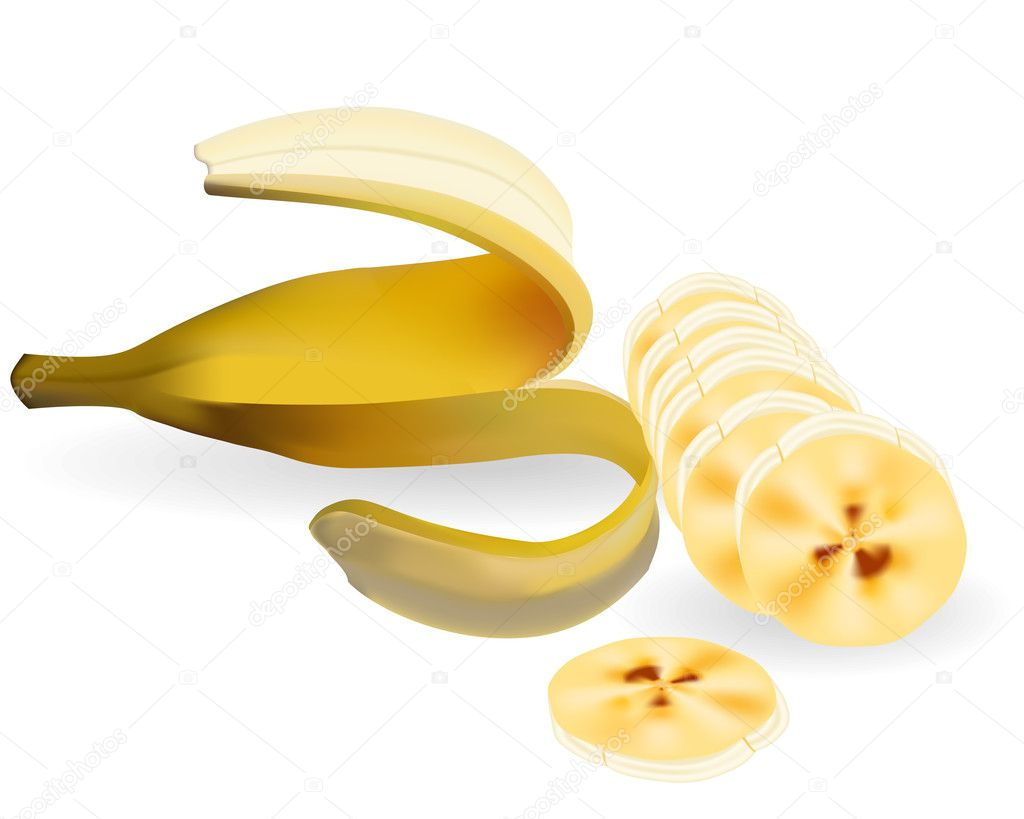 The cut banana