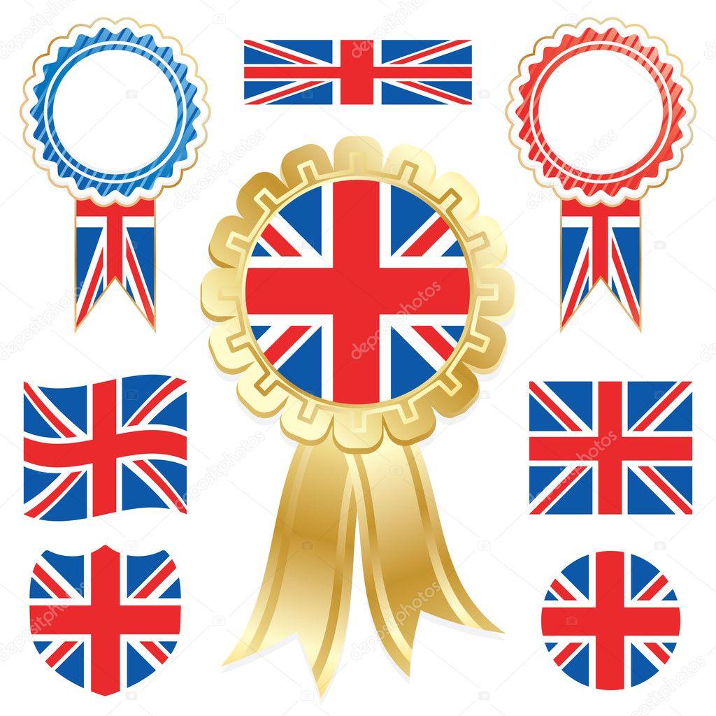 banderas del Reino Unido — Vector de stock © mattasbestos #5608480