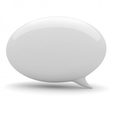3d bubble talk, on white background