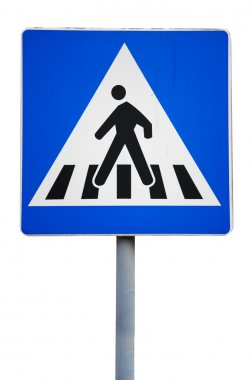 Old traffic sign. pedestrian crossing stock vector