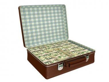 Million dollars in suitcase