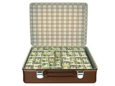 Million dollars in suitcase